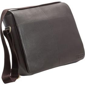 511175b781 Leather Messenger Bag Mocca Zippo