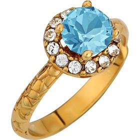 Ασημένιο δαχτυλίδι ροζέτα 925 με γαλάζια πέτρα SWAROVSKI AD-E1212WBLAG1 0113ac5a056
