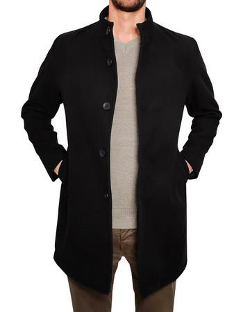 Ανδρικό παλτό ALLEN - Μαύρο. 3Guys 0e4bce9874b