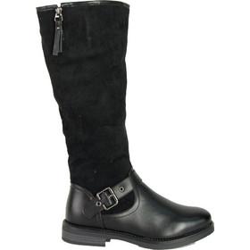 Γυναικείες μαύρες μπότες ιππασίας δερματίνη σουέντ 900110 b23b94c3e88