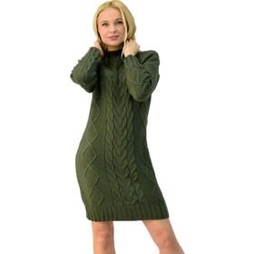 5706f3b4d1cc Πλεκτό φόρεμα μίνι με ψηλό γιακά