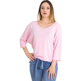 dc9c9cabd035 Γυναικεία ροζ μακρυμάνικη μπλούζα λεπτή πλέξη 5013L