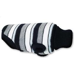 Πουλόβερ Σκύλου Πλεκτό Amiplay Glasgow Μαύρο με Γκρι Ρίγες d30e0adc18d