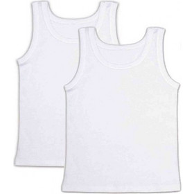 9fdecdcf101 FMS Παιδικό Φανελάκι Κορίτσι - Φαρδιά Τιράντα - Διπλό Πακέτο Λευκό