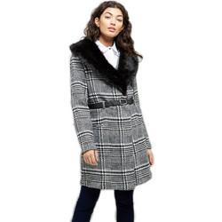 Καρώ παλτό με γούνα 0d72952e3a8