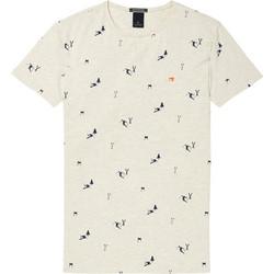 b4804ca272e0 T-shirt με στρογγυλή λαιμόκοψη και μικροσχέδιο Scotch   Soda (145533-0588-