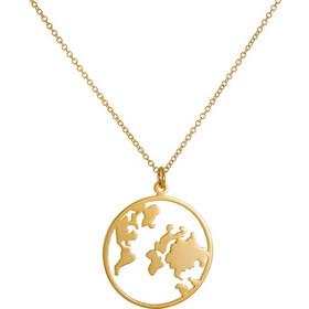 Κολιέ από χρυσό 14 καρατίων με πλανήτη Γη. Η Γη είναι το σύμβολο που αγαπούν 077ca7f7329