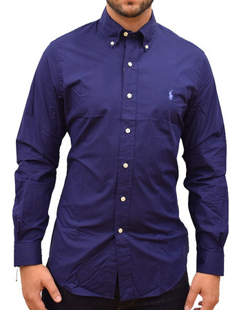 Εμφάνιση προϊόντων. POLO RALPH LAUREN SHIRT NATURAL STRETCH NAVY SLIM FIT d615433717c