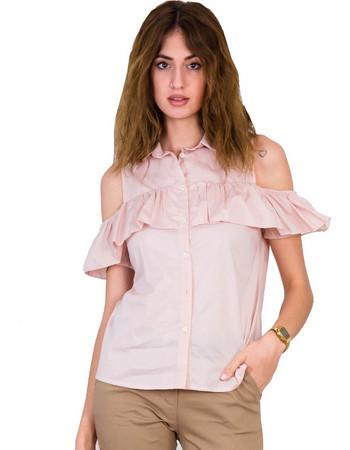 Γυναικείο πουκάμισο Lipsy ροζ με βολάν 1170505 33295a79f69