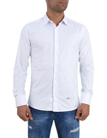 Ανδρικό λευκό μονόχρωμο πουκάμισο Ben Tailor 185210 b1b76edb499