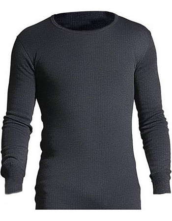40d18709ac5d HeatHolders Long Sleeve Vest Men Charcoal 80118-CHA