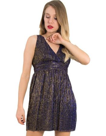 3c4e005aa118 Γυναικεία μωβ φόρεμα τούλι μεταλλιζέ Cocktail 014100075L