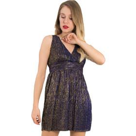 ec586e6272a8 Γυναικεία μωβ φόρεμα τούλι μεταλλιζέ Cocktail 014100075L