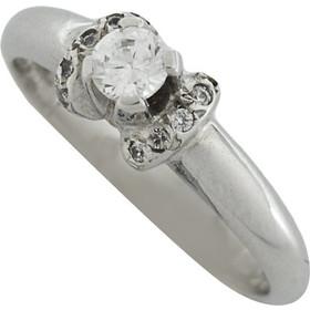 Δαχτυλίδι μονόπετρο λευκόχρυσο 14 καράτια με ζιργκόν 4f2821c06c6