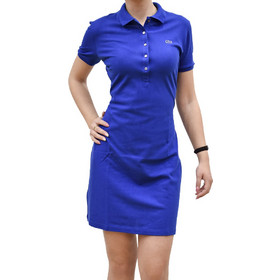 45d59e9ce8ee LACOSTE POLO DRESS IN STRETCH MINI PIQUE ELECTRIQUE