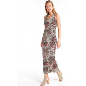 572106730a30 Μάξι φόρεμα με σχέδια και λουλούδια - Γαλάζιο