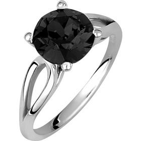 Μονόπετρο δαχτυλίδι σε ασήμι 925 με μαύρη πέτρα SWAROVSKI AD-V16101BL1 29dc481a1eb
