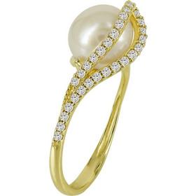 Κίτρινο Χρυσό Μονόπετρο Δαχτυλίδι Με Μαργαριτάρι Κ14 DX94163 f47f32831f6