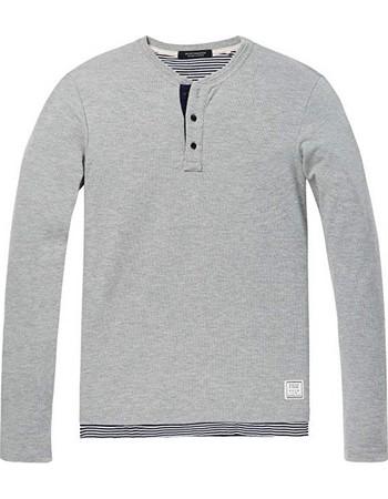 44bad2b9f6e4 T-shirt ανδρικό μακρυμάνικο με κουμπάκια Scotch   Soda (148516-0217-GREY