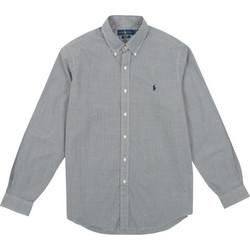 Polo Ralph Lauren Sport Shirt Long Sleeve 710-705967 Λευκό   Μαύρο 9cac802d704