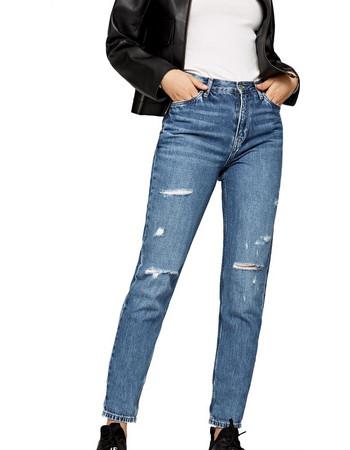 1ee7a070f99 Pepe Jeans γυναικείο τζην παντελόνι Momsy 30 - PL201743WX50 - Μπλε