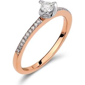 Μονόπετρο δαχτυλίδι από λευκό και ροζ χρυσό 18 καρατίων με ένα κεντρικό  διαμάντι 0.14ct και 4562beee78b