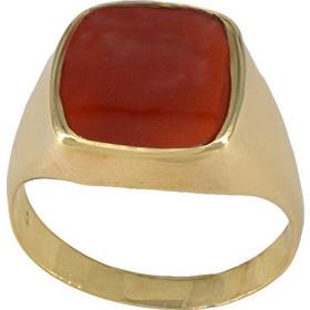 Ανδρικό δαχτυλίδι χρυσό 14 καράτια με κόκκινη πέτρα cfc8aeea8cc