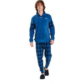 0083a3ab13aa Noidinotte Ανδρική Πιτζάμα Fleece Μπλέ Ράφ