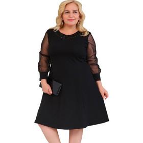 cf19d93f0a22 Φόρεμα Μαύρο με Λεπτομέρεια Παγιέτας