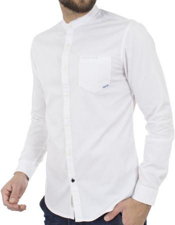 24eb3474509 Ανδρικό Μάο Μακρυμάνικο Πουκάμισο Slim Fit Best Choice S185130-5 Λευκό