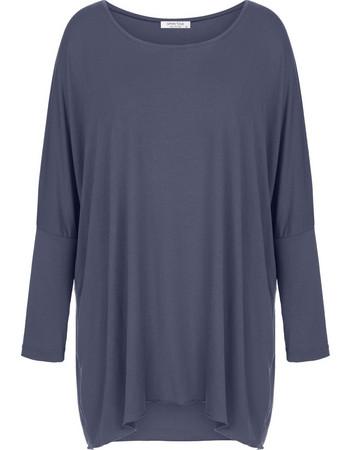 d768c94e265f Μακρυμάνικη μακριά μπλούζα WL4637.4001+9