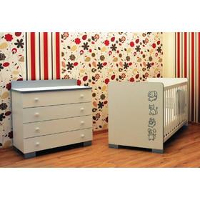 a6df336a5d6 Σετ προεφηβικό κρεβάτι ART BEBE ΣΕΙΡΙΟΣ και συρταριέρα- λευκό/ασημί