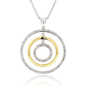 Μενταγιόν Λευκό και Κίτρινο Χρυσό 18 Καρατίων Κ18 με Διαμάντια Μπριγιάν  014011 352ae6a2983