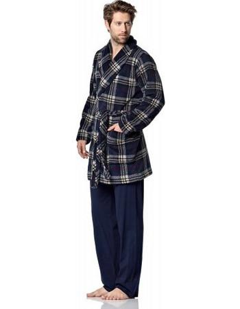 Ρόμπα καρό fleece Vamp 00-15-0500 - μπλε ed9592a1ee0