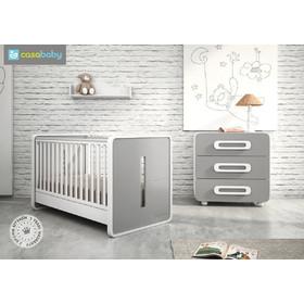 047127290ad Σετ βρεφικό κρεβάτι μετατρεπόμενο σε προεφηβικό και συρταριέρα Casababy  Venere ve.2 - Χρώμα Γκρι