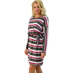 Φόρεμα ριγέ με ζώνη 26252ba96a1