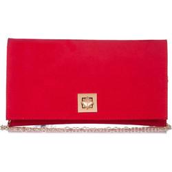 d34b99ecf0 Κόκκινο Σουέτ Τσαντάκι Φάκελος με Μεταλλικό Kούμπωμα Pierro Κόκκινο Pierro  Accessories