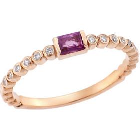 Δαχτυλίδι Μονόπετρο με Διαμάντια και Ρουμπίνι 18Κ σε Ροζ Χρυσό 7646bea57f7