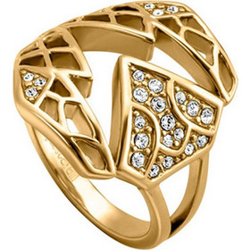 Δαχτυλίδι Just Cavalli της σειράς Animal από ανοξείδωτο ατσάλι σε χρυσό  χρώμα και εντυπωσιακό σχεδιασμό. a051244bc73
