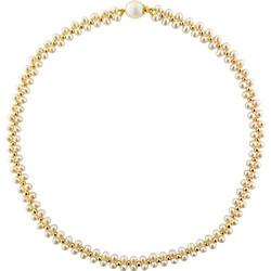 227e72908ff7 Κολιέ με λευκά μαργαριτάρια και χρυσά στοιχεία K14 - M122797