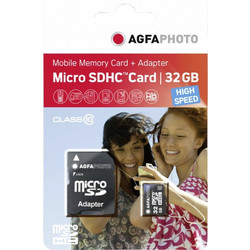 Agfaphoto 32GB microSDHC Mobile High Speed Class 10 + Adapter