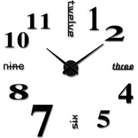 Ρολόι Τοίχου Numbers And Letters Do It Yourself Black 9e95a630312