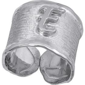 Ασημένιο σεβαλιέ δαχτυλίδι 925 με μονόγραμμα 031367 031367 Ασήμι 2d3058135a0