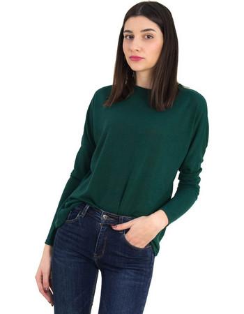 9122cdc60c93 Γυναικεία κυπαρισσί μακρυμάνικη πλεκτή μπλούζα 568971Q