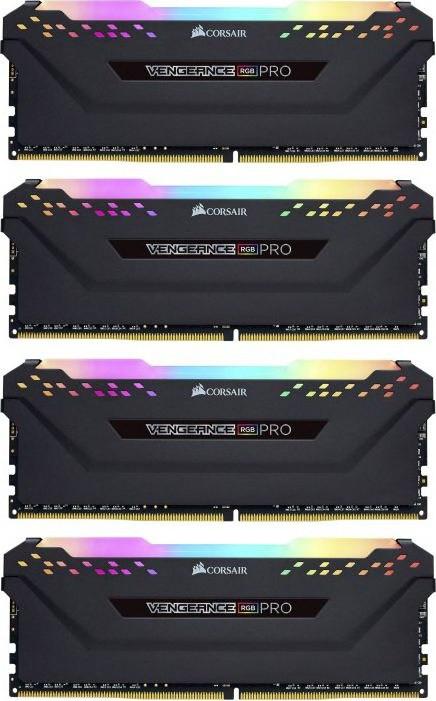 Corsair Vengeance RGB Pro 64GB (4X16GB) DDR4 3600MHz Black