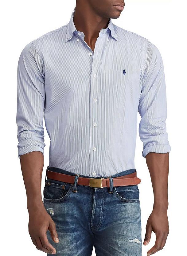 μπλε πουκαμισο - Ανδρικά Πουκάμισα Polo Ralph Lauren  07a90c35e0e