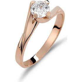 Δαχτυλίδι Μονόπετρο Φλόγα Ροζ Χρυσό Με Ζιργκόν - 002449 b8b80055e5b