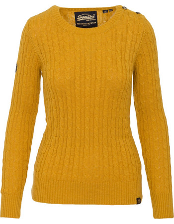 cb3e55307ff4 SUPERDRY W D1 CROYDE CABLE KNITWEAR - G610014NR-XVZ YELLOW