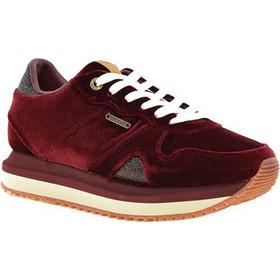 006659a2dc2 Pepe Jeans γυναικεία sneakers STYLE PLS30786 470 ZION VELVET 470DATE 37  μπορντώ βελούδο