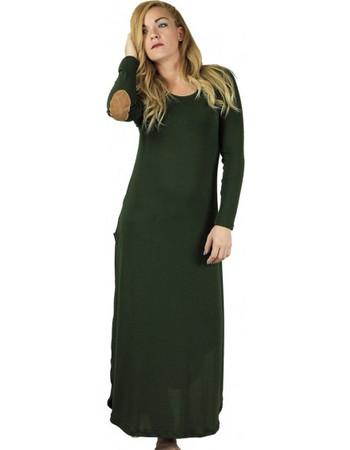720520e35f0b Lovender Χακί Μπλούζα Φόρεμα με Άνοιγμα στο Πλάι